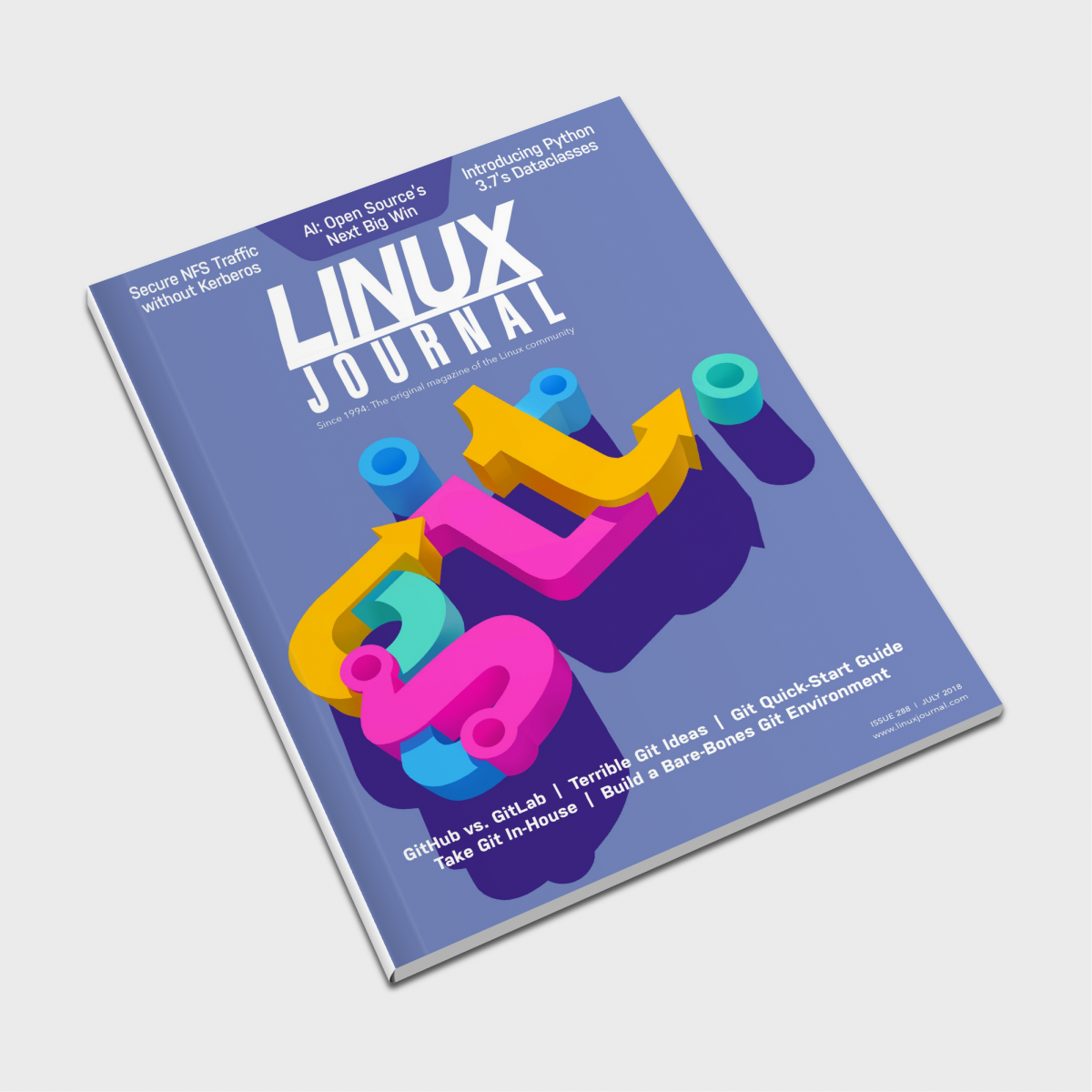 Linux Journal 'Git' Cover