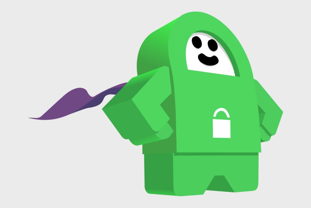 Private Internet Access Robot Superhero Vector Illustration