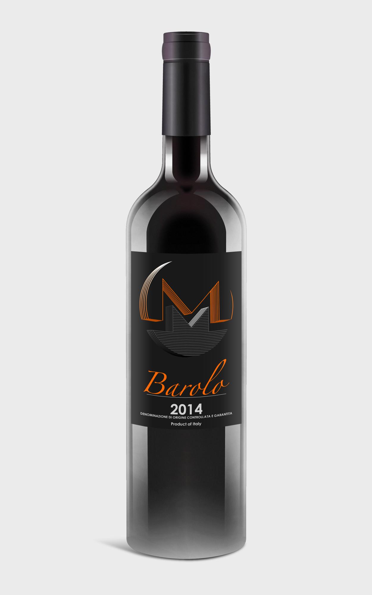 Monero 2014 Doglianivini Barolo Wine Label